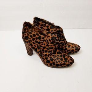 Sam Edelman Leopard Calf Hair Simone Bootie Sz 7